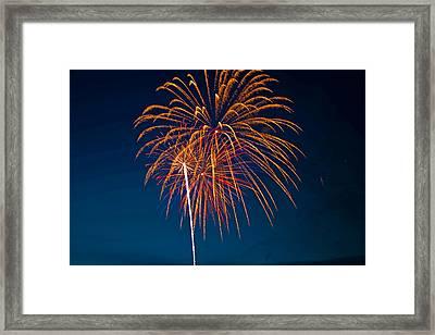 West Virginia Day Fireworks 3 Framed Print by Howard Tenke