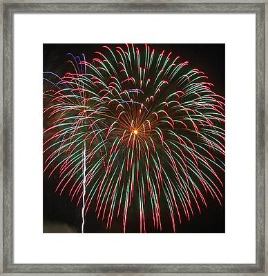 4th Of July Fireworks 16 Framed Print