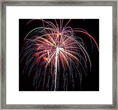4th Of July Fireworks 20 Framed Print by Howard Tenke