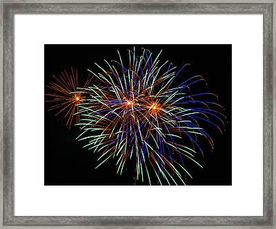 4th Of July Fireworks 22 Framed Print by Howard Tenke