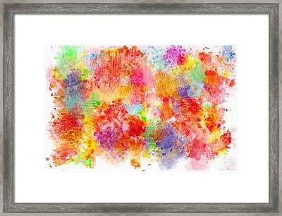 Multi Colored Ditgital Abstract 4 Framed Print by Debbie Portwood