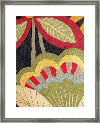 Framed Print featuring the photograph Multi-colored Flowers Leaves Textile by Janette Boyd