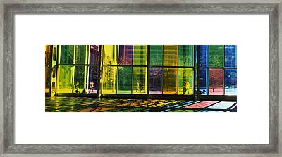 Multi-colored Glass In A Convention Framed Print by Panoramic Images
