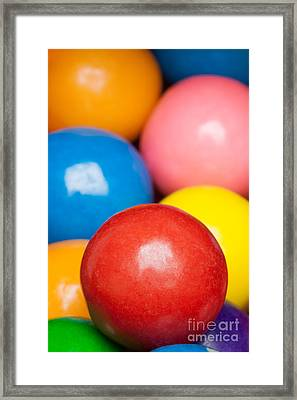 Framed Print featuring the photograph Multi-colored Gumballs by Bryan Mullennix
