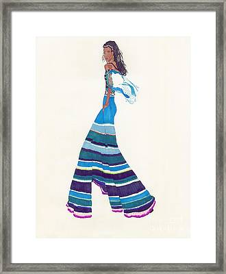 Multi-colored Pants Framed Print