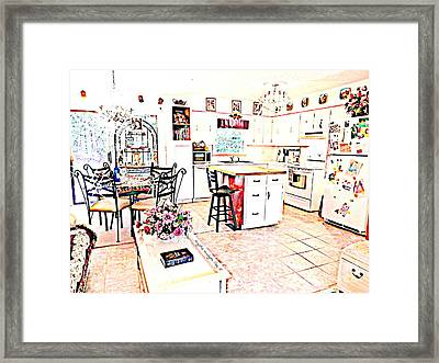 Multi-colorful Home By Angela Clay Framed Print