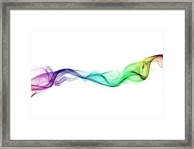 Multi-coloured Twist Of Smoke Framed Print by Anthony Bradshaw