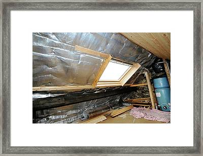 Multi-foil Roof Insulation Framed Print by Cordelia Molloy