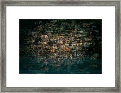 Multi House Framed Print