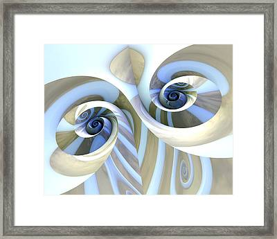 Multi-swirl Framed Print by Kevin Trow