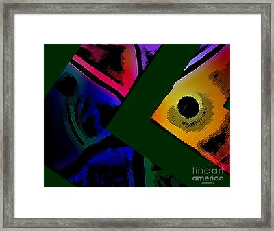 Multicolor Abstract Geometry Framed Print by Mario Perez