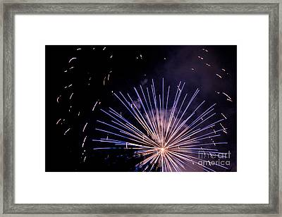 Framed Print featuring the photograph Multicolor Explosion by Suzanne Luft