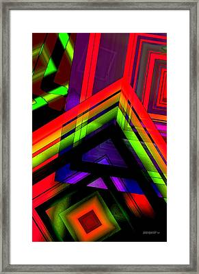 Multicolor Geometric Artwork Framed Print by Mario Perez