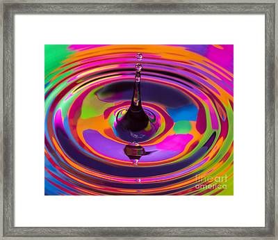 Multicolor Water Droplets 3 Framed Print by Imani  Morales