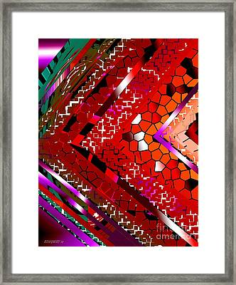 Multicolored Abstract Art Framed Print by Mario Perez