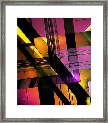 Multicolored Combination Art Framed Print by Mario Perez