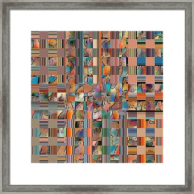 Multicolored Fractured Reality Framed Print