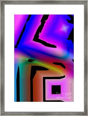 Multicolored Geometric Art  Framed Print by Mario Perez