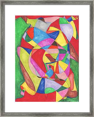 Multicolored Maze Framed Print by Ellen Howell