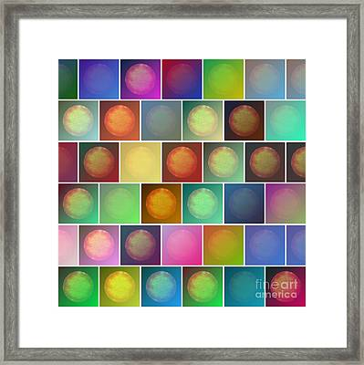 Multicolored Suns Framed Print