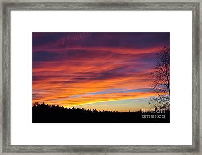 Multicolored Sunset Framed Print