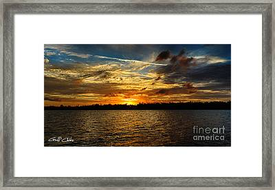 Multicolour At Sea - Sunset Framed Print by Geoff Childs