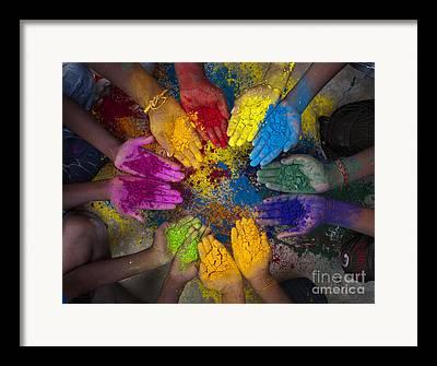 Coloured Powder Framed Prints