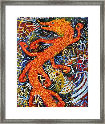 Multidimensional Flaming Serpent Framed Print