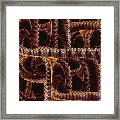 Multidimensional Passages Framed Print by Anastasiya Malakhova