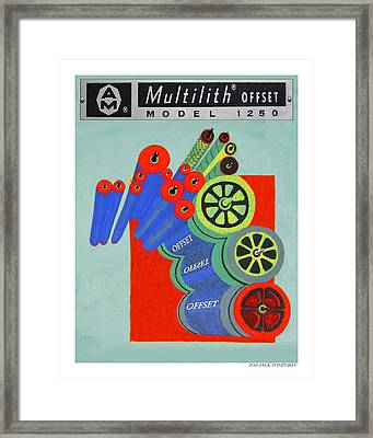 Multilith 1250 Ink Rollers Cylinders Framed Print by Jack Pumphrey
