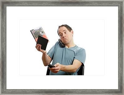 Multimedia Overload Framed Print