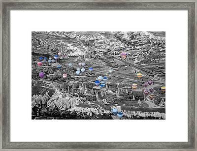Multiple Balloons Framed Print by Ernesto Cinquepalmi