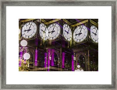 Multiple Clocks Framed Print