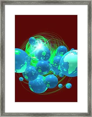Multiple Globes Framed Print by Victor Habbick Visions