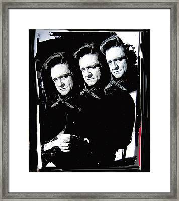 Framed Print featuring the photograph Multiple Johnny Cash Sitting Old Tucson Arizona 1971-2008 by David Lee Guss