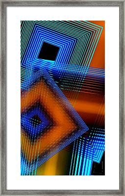 Multiple Lines On Geometrical Art Framed Print by Mario Perez