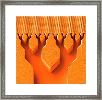 Multiscale Fluidic Structure Framed Print by Ornl/science Photo Library