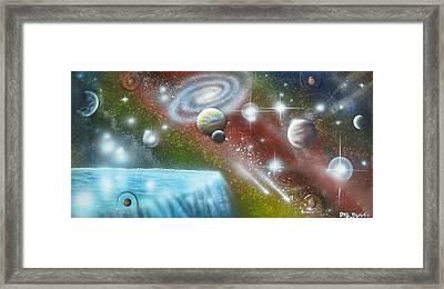 Multiverse Falls Framed Print