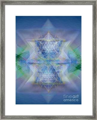 Multivortex 3d Chalice With Horizontal Vortexes Framed Print by Christopher Pringer