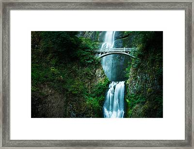 Framed Print featuring the photograph Multnomah Abbreviated by Brian Bonham