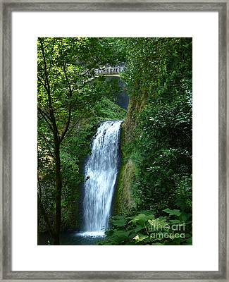 Multnomah Falls Bridge 2 Framed Print