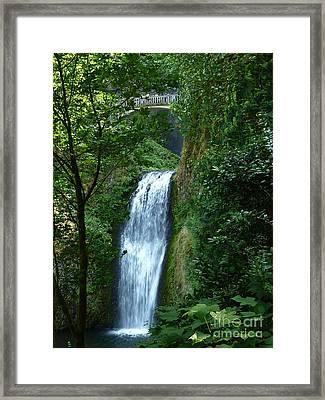 Multnomah Falls Bridge 2 Framed Print by Susan Garren