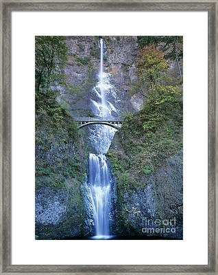 Multnomah Falls Columbia River Gorge Framed Print by Dave Welling