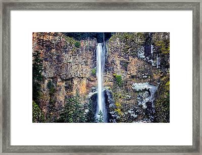 Multnomah Falls East Of Portland Or Framed Print