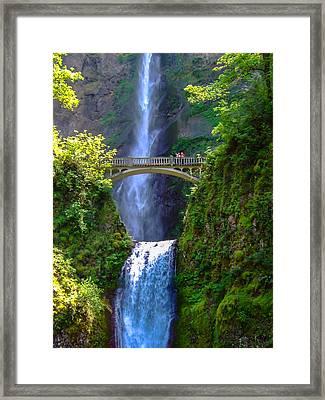 Multnomah Falls Framed Print by Marc Crumpler