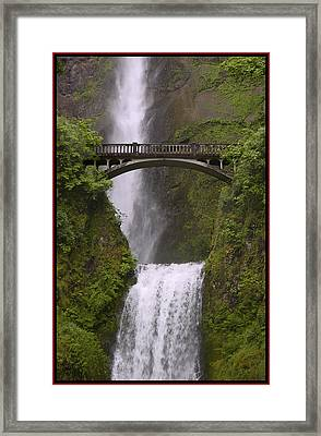 Multnomah Falls Oregon Framed Print by Gary Grayson