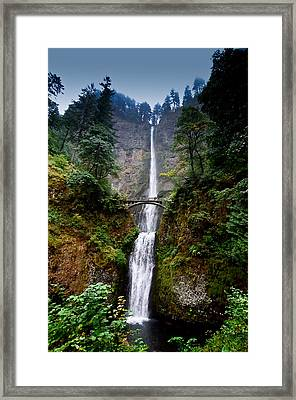 Multnomah Falls Oregon State Waterfall Framed Print by Puget  Exposure