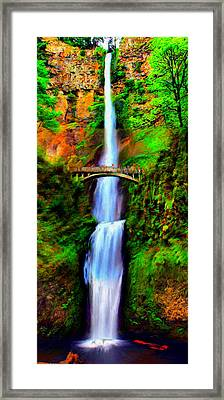 Multnomah Falls Framed Print by Paddrick Mackin