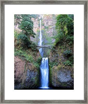Multnomah Falls Framed Print by Ramona Johnston