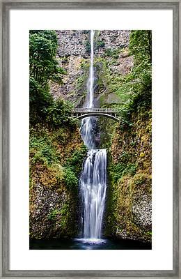 Multnomah Falls Framed Print by Robert Bales